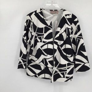 Chicos Katarina black white jacket blazer new 3 XL